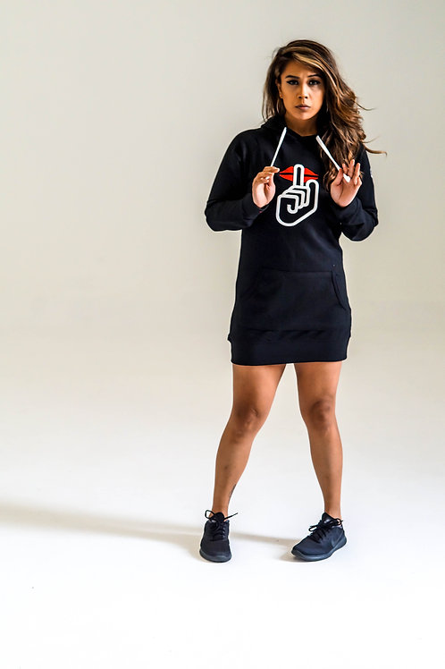 SAY NO MORE HOODIE DRESS (BLACK)