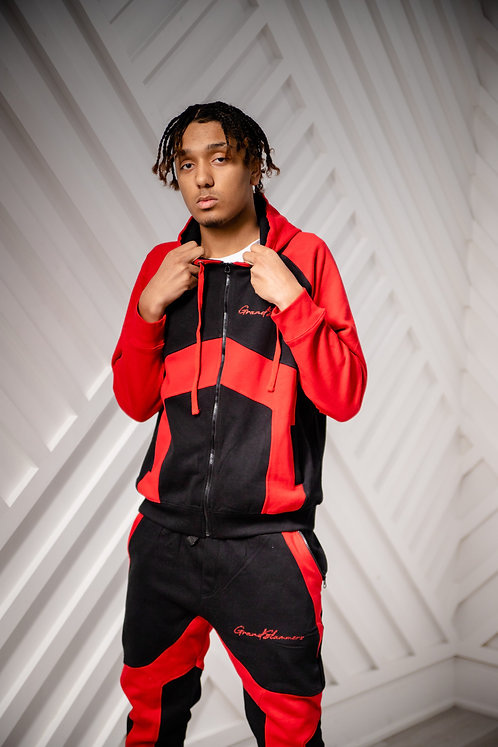 Two Tone Tracksuit (Red/Black)