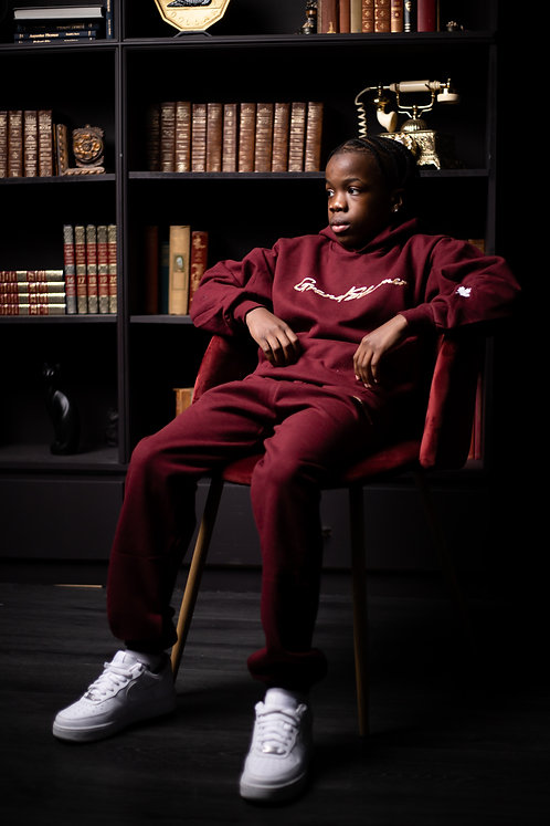 Signature Youth Tracksuit (Burgundy)