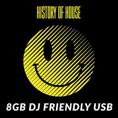History of House - DJ USB (Single Tracks Unmixed)