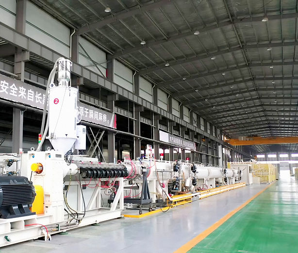 continuous fiberglass reinforced thermoplastic composite pipe (TCP pipe)production line system