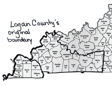 Logan Co., KY original size in 1792