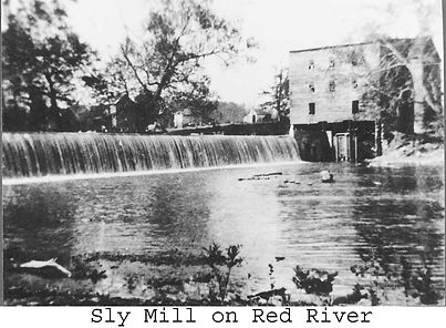 Schley mill and mill pond, Orndorff famil mills
