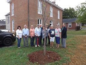 Tree and Garden Club dedicate tree