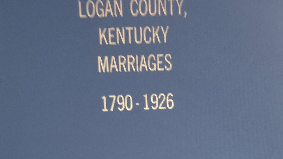 Logan County, KY Marriages 1790-1926