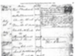 Marriage register; explanation of recordings