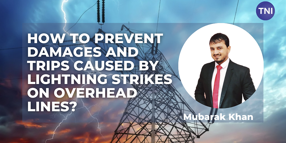 How to prevent damages and trips caused by lightning strikes on overhead lines?