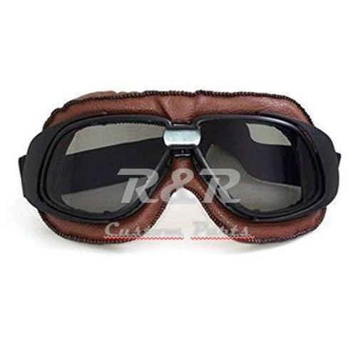 Óculos Aviador Marrom Lente Fumê Estilo Vintage Retro Moto