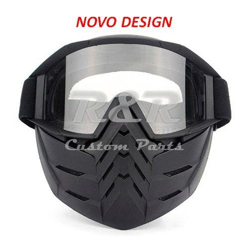 Oculos Para Capacete Aberto Com Máscara Incolor -novo Design