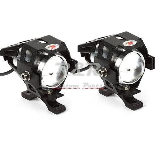 PAR-Farol Milha Led Universal Cree U5 3000lm Moto Tipo Xenon