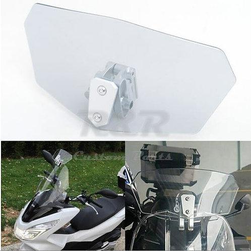 Defletor Para-brisa Bolha Moto Universal Transparente