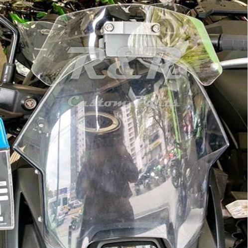 Defletor Kawasaki Versys 650 Para-brisa Moto 2007 A 2014