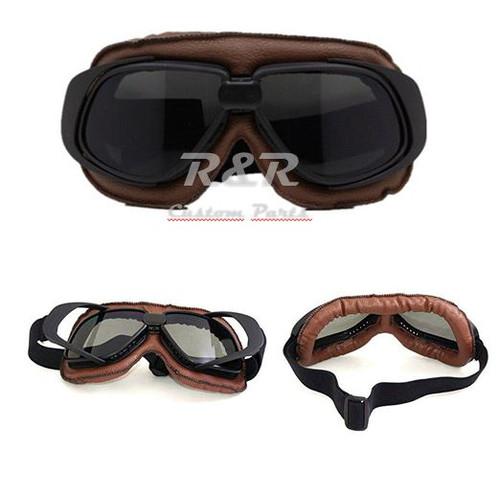 2b1aaa45818b9 Óculos Aviador Marrom Lente Fumê Estilo Vintage Retro Moto