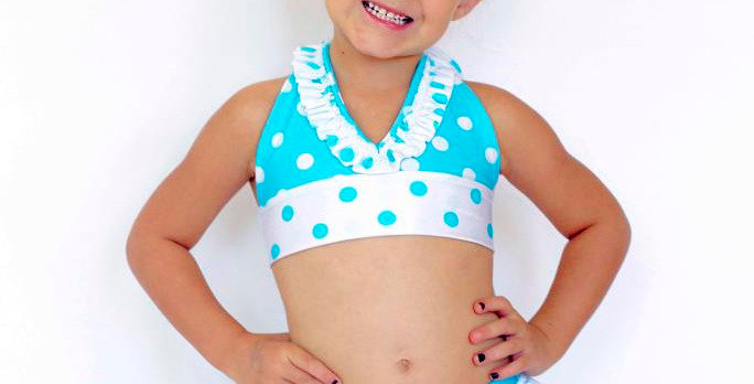 RUBY Polka Dot Tie-Back Halter Tops-Clearance