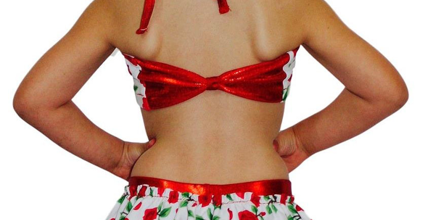 LUCY Red Rose Bustle Shorts