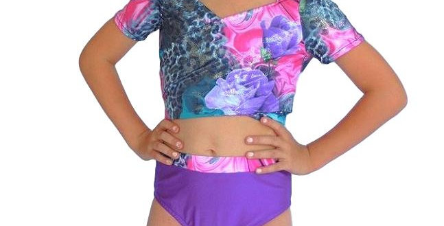 ADDY Purple Rose Top
