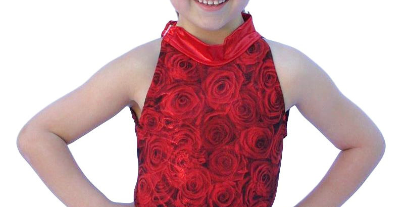 BROOKE Red Rose Leotard