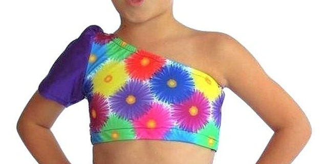 TYLIE Purple Daisy Top