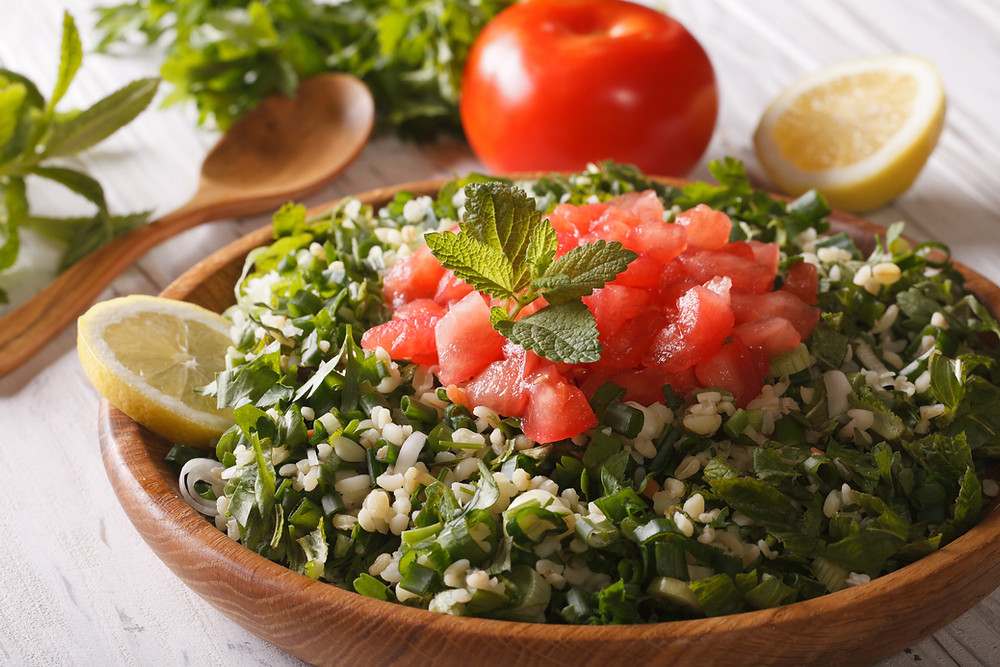 Gluten Free Tabbouleh with Cauliflower CousCous Recipe
