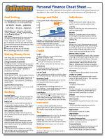 Personal Finance Cheat Sheet