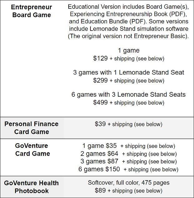 K-12 Pricing - Print-based Products