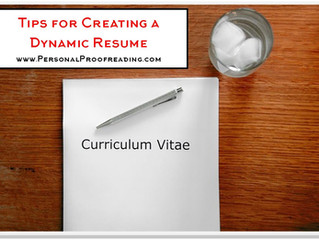 Tips for Creating a Dynamic Resume