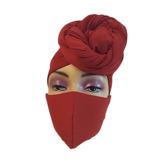 Burgardy's Best  Head Wrap Set