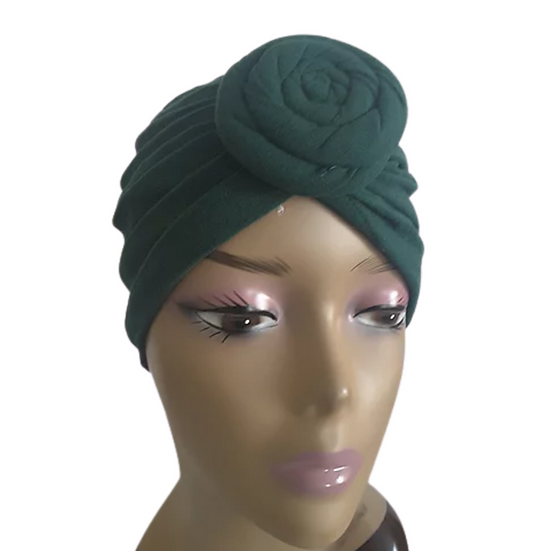 Forest Green Chic Turban