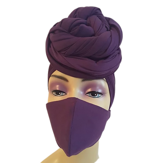 PassionatelyPurple  Head Wrap Set