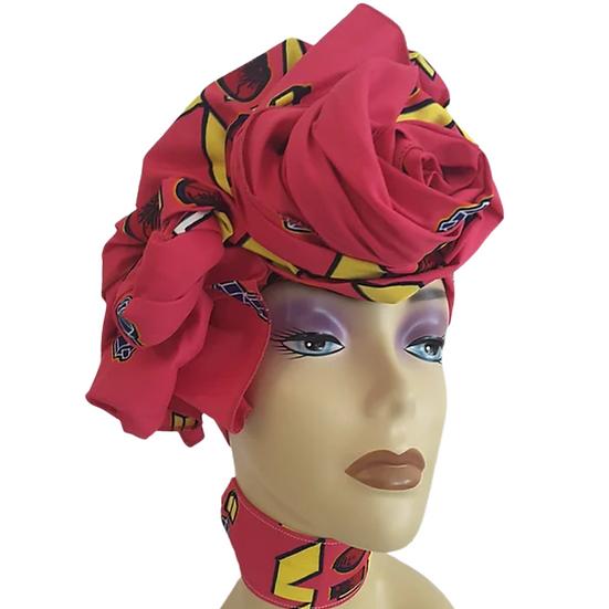 Magenta Magic Head Wrap Set