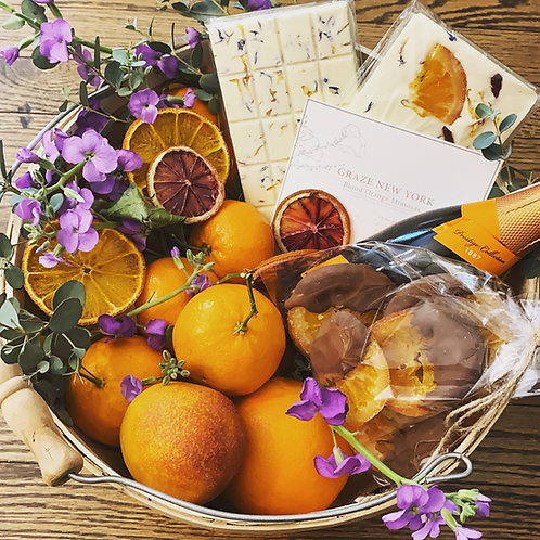 Winter citrus basket