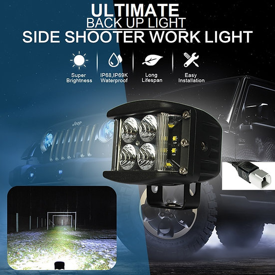 """ULTIMATE SUPER BRIGHT PLUG AND PLAY LED (BACK UP LIGHT) 4"""" 180 DEGREE LIGHT"""