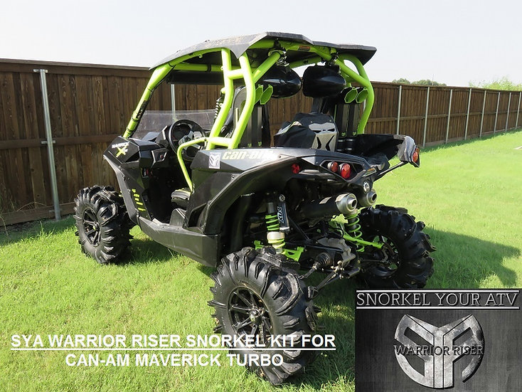 SYA Warrior Riser Snorkel kit for Can-Am Maverick Turbo 2015 - 2018