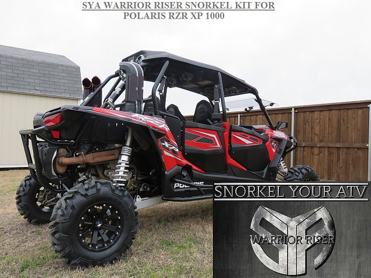 Polaris RZR RZR4 1000 14 15 Snorkel Kit Free Shipping on wild boar honda pioneer 1000 all atv