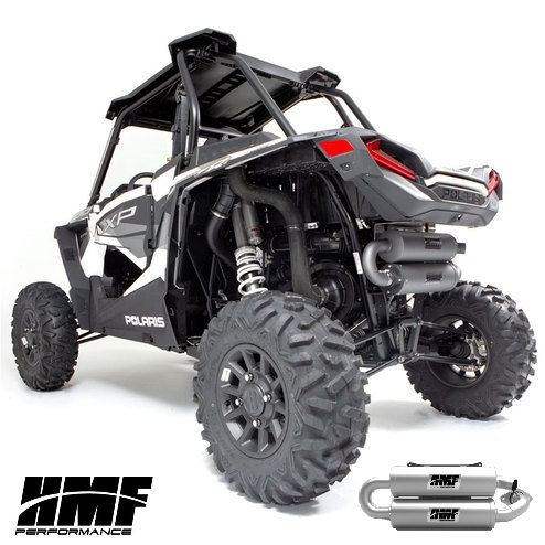 HMF TWIN LOOP EXHAUST FOR RZR 1000 XP 15-20