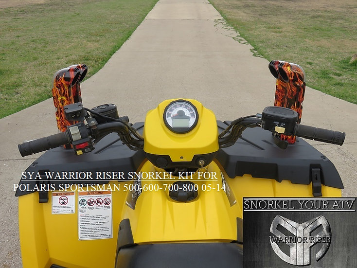 SYA Warrior Riser Snorkel kit for Polaris Sportsman 400-500-600-700-800 05-14