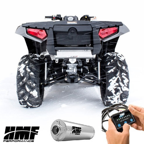 HMF TITAN SLIPON EXHAUST FOR SPORTSMAN 550 XP 850 XP 12-16