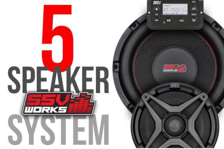 Yamaha YXZ1000R 16-18 complete SSV Works 5 speaker Plug-and-Play system