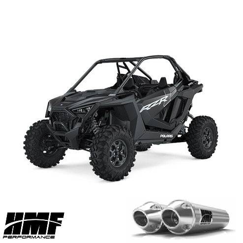 HMF PERFORMANCE DUAL SLIP ON EXHAUST FOR RZR XP PRO