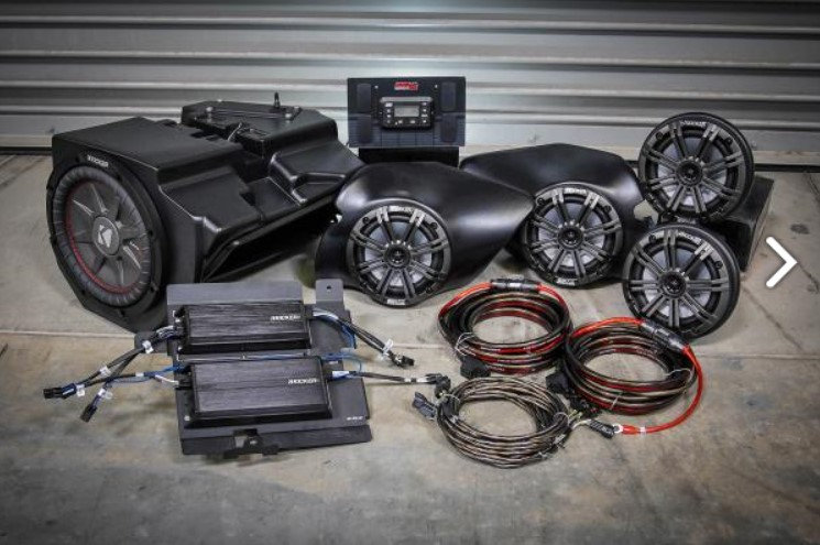 RZR XP1000 900 & TURBO 14-18 complete Kicker 5 speaker Plug-and-Play system