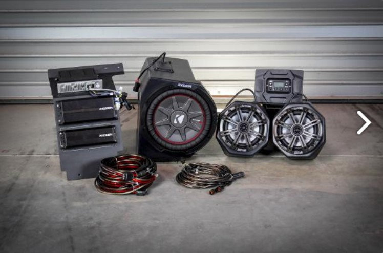 General (Non Ride Command) complete Kicker 3 speaker Plug-and-Play system