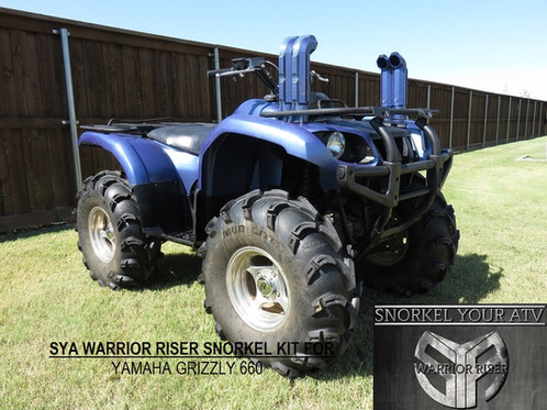 Grizzly 660 Snorkel Kit >> Sya Warrior Riser Snorkel Kit For Yamaha Grizzly 660 2002 2008