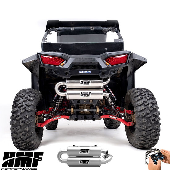 HMF TWIN LOOP EXHAUST FOR RZR 9001000s