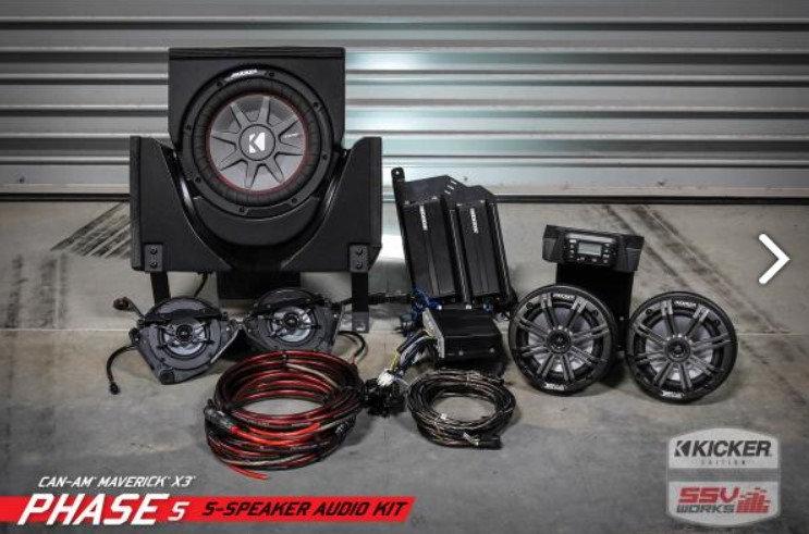 Maverick X3 16-18 & MAX complete Kicker 5 speaker Plug-and-Play system