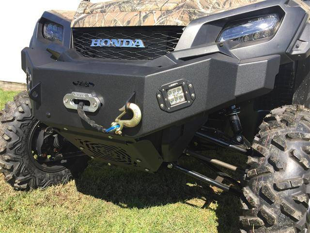 FRONT BUMPER BRUSH GUARD & LED LIGHTS FOR PIONEER 1000