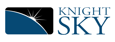 Knight Sky Logo Blue Text Small