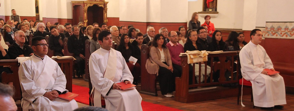 Presbítero Fr. Eleví Santos, OSA Presbítero Fr. Mauricio Pérez, OSA Diácono Fr. Andrés Felipe Romero, OSA