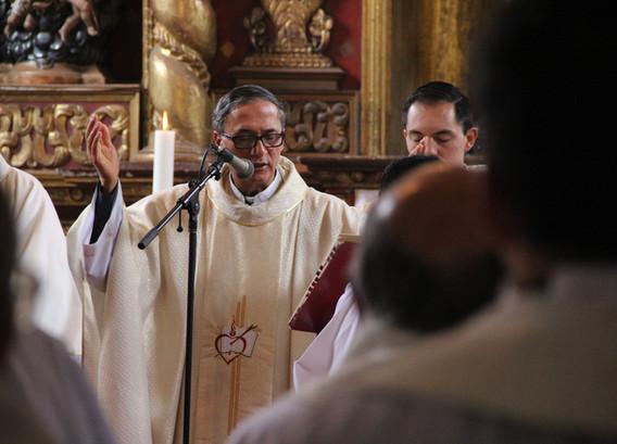 Frailes agustinos en la celebración del día de la Provincia Nuestra Señora de Gracia de Colombia
