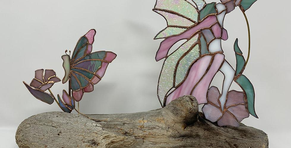 Garden Faerie - Pink Hibiscus