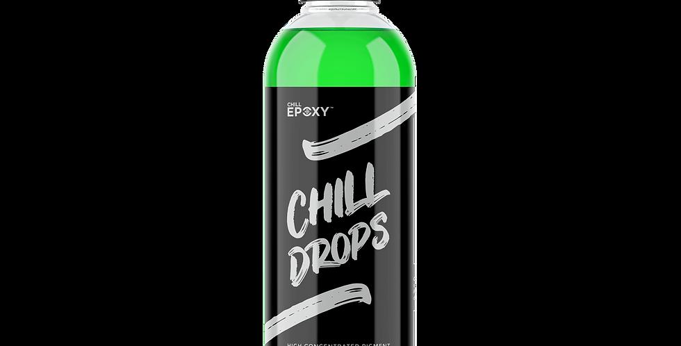 Chill Drops Transparent Green 4oz